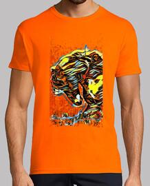 """Azabache"", camiseta hombre, manga corta, McHarrell original."