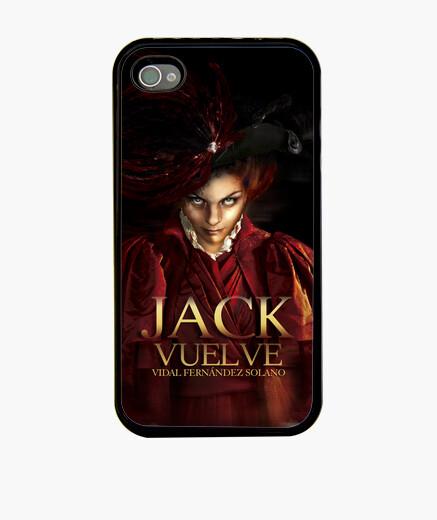 """Jack vuelve 02"", Funda iPhone, negra, McHarrell original."