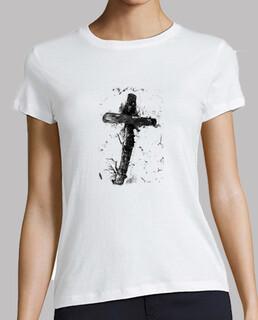 """La cruz"", B&N, Camiseta mujer, McHarrell original."