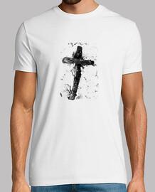 """""""La cruz"""", B&N, playera hombre, McHarrell original."""