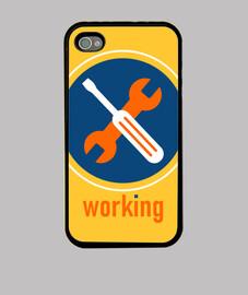"""Working"", Funda iPhone, McHarrell original."