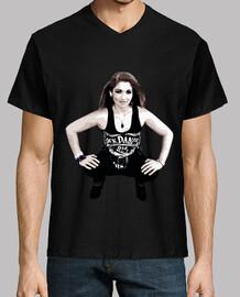 """sheenna rock"", b & n, t-shirt scollo a v, mcharrell originale."