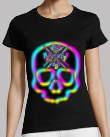 3d crâne néon