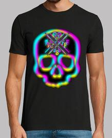 3d skull neon
