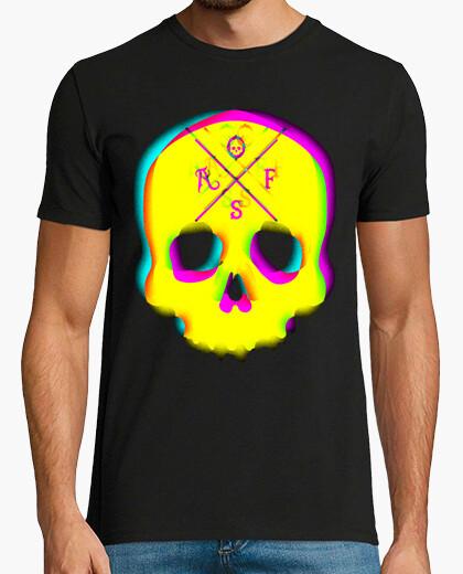 T-shirt 3d skull vintage