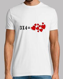 3x4 courte - chemise à manches longues comme coeurs