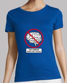 404 erreur cerveau pas trouvé t-shirt femme