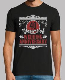 40 anni di anniversario di matrimonio