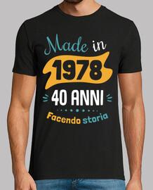 40 anni f ace ndo storia