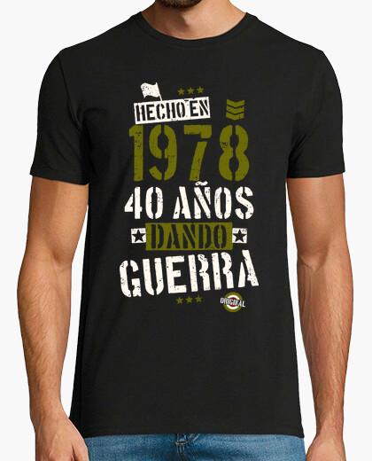 T-shirt 40 anni facendo  guerra. 1978