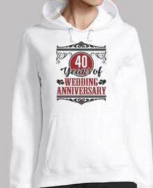 40 años de aniversario de bodas