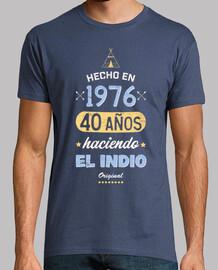 40 años haciendo el Indio. 1976