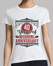 40 ans d'anniversaire de mariage