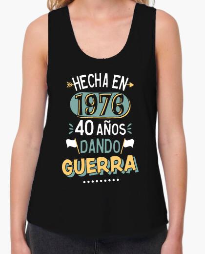 Tee-shirt 40 ans de guerre de fabrication. 1976