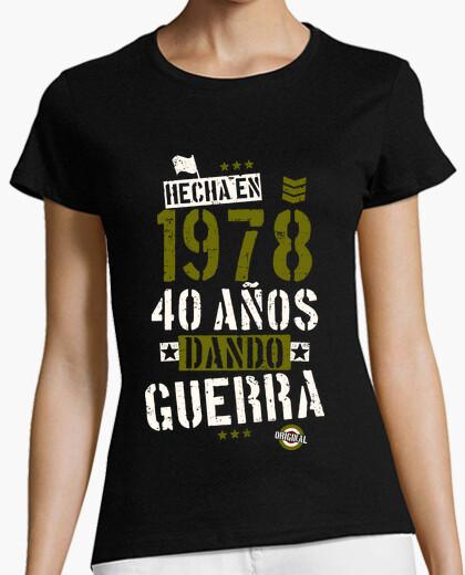 Tee-shirt 40 ans de guerre de fabrication. 1978