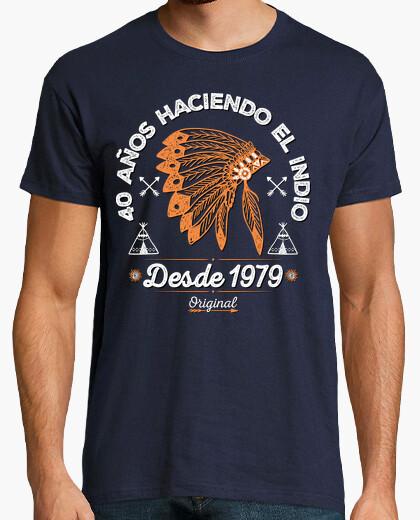 Tee-shirt 40 ans faire l39Indien depuis 1979