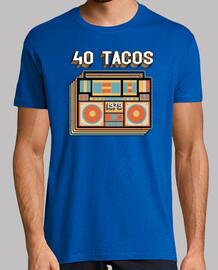 40 tacos - cadeau d'anniversaire vintage rétro de 1979