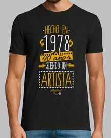 40 years being an artist. 1978