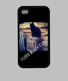 44s chat noir de cas de l'iphone