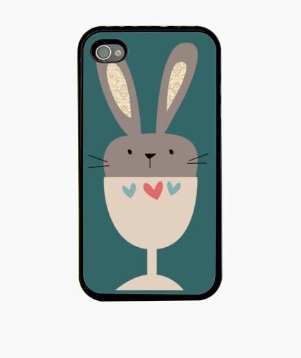 Coque iPhone 44s lapin tasse cas d'iphone (modèle 2)