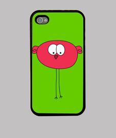 44s oiseau rouge de cas de l'iphone