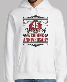 45 años de aniversario de bodas