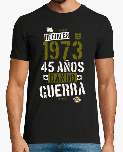 Tee-shirt 45 ans de guerre de fabrication. 1973
