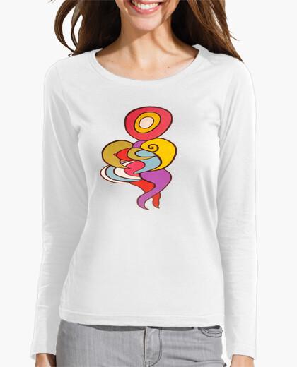 Camiseta 476980 figura multicolor y lila