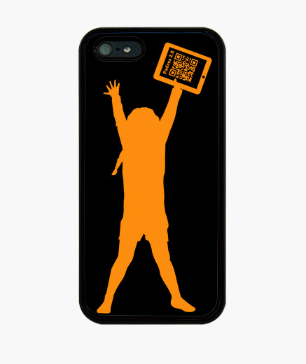 4 black - the girl in the tablet iphone cases