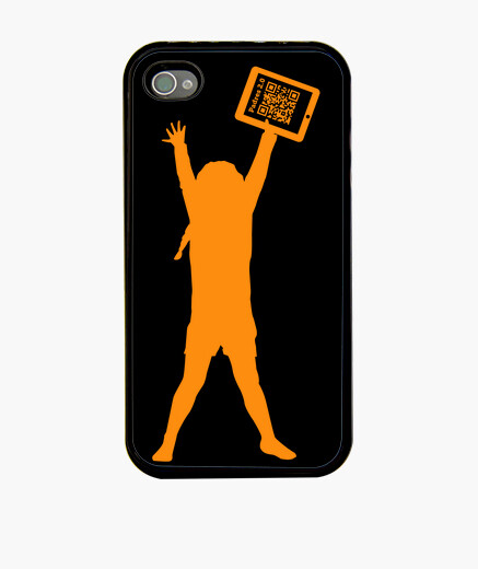4 black - the girl of the tablet iphone cases