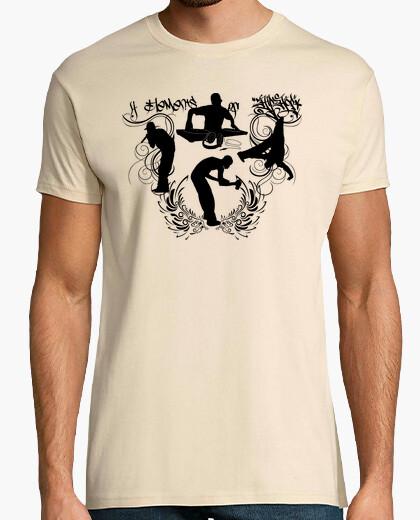 Camiseta 4 Elements Of Hip Hop (MC, DJ, Breakdance y Graffiti)