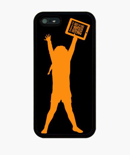Coque iPhone 4 noir - la jeune  femme ...