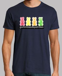 4 osos. Camiseta chico color azul marino