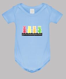 4 osos. Pijama de bebé color azul