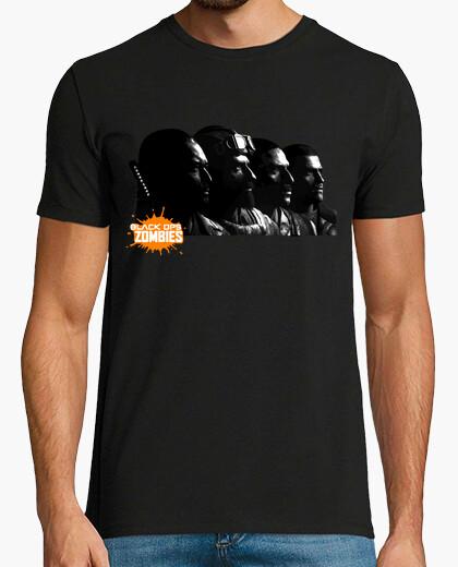 Camiseta 4 Players BlackOps Zombis - Takeo, Nikolai, Richtofen, Dempsey