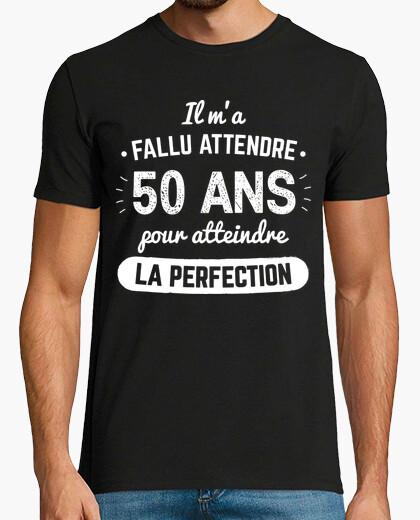T-shirt 50 anni per raggiungere la perfezione v1