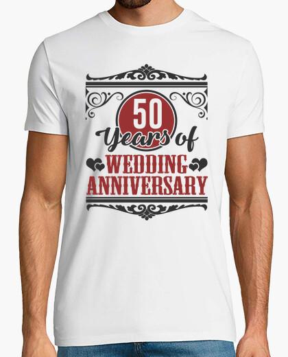 Tee Shirt 50 Ans Danniversaire De Mariage