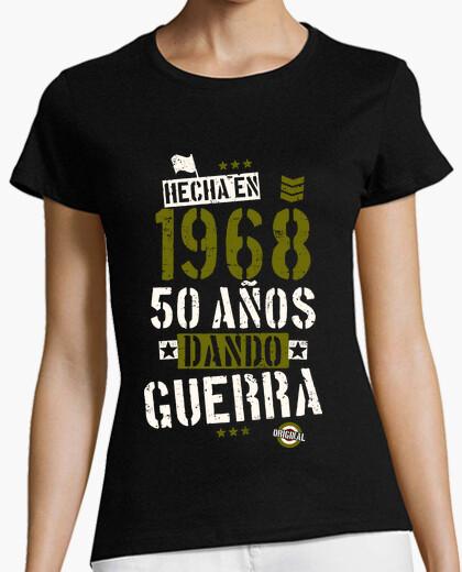 Tee-shirt 50 ans de guerre de fabrication. 1968