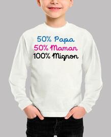 50% dad 50% 100% cute mom / baby