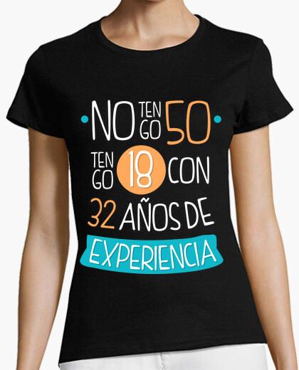 50 years (man, woman) dark background t-shirt