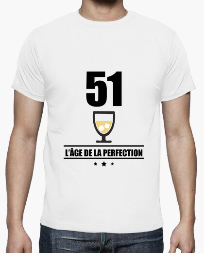 51 years old age of perfection t-shirt
