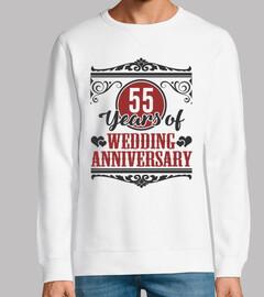 55 años de aniversario de bodas