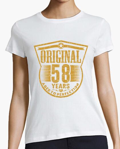 Camiseta 58 years original aged to perfection