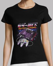 64-bit retro gaming shirt mujeres