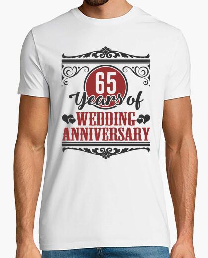 65 Anniversario Di Matrimonio.T Shirt 65 Anni Di Anniversario Di Matrimonio
