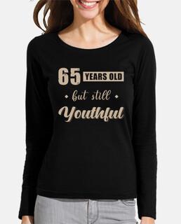 65 cumpleaños diciendo regalo