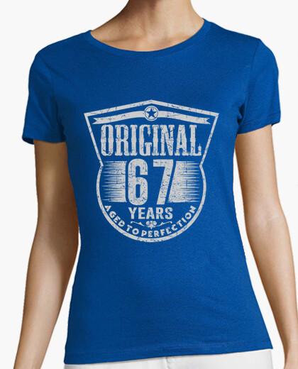 Camiseta 67 years original aged to perfection