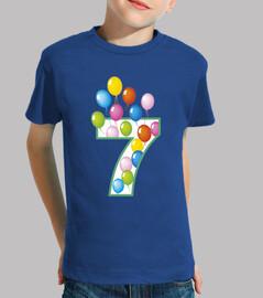 7 compleanno anni con palloncini