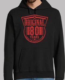 80 años originales envejecidos a la per