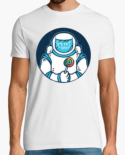 80s 90s astronaut t shirt with lollipop t-shirt